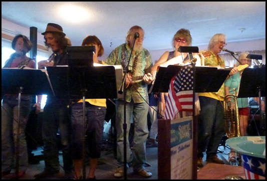 66 - Uncle Kippy's - Man in yellow shirt on right is Professor and Band Leader