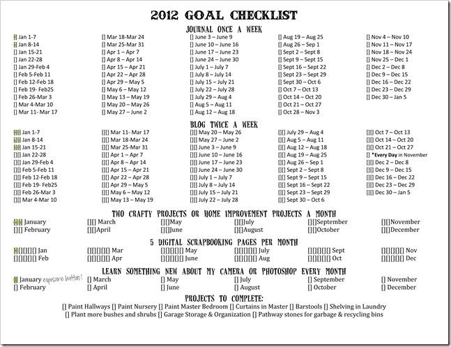 2012 Goal Checklist-2