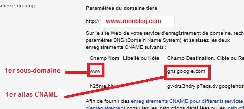 Nom de domaine personnel pour un Blog sous Blogger
