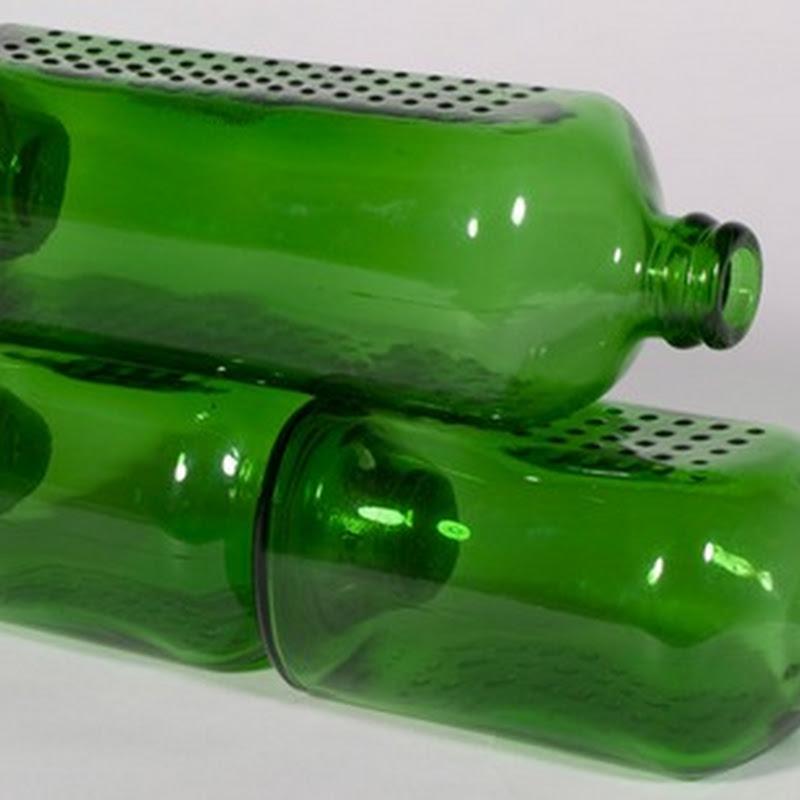 Botellas de Heineken y su reutilización como ladrillos