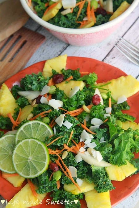 mango tropical kale salad with of kale salads and learned coconut ...