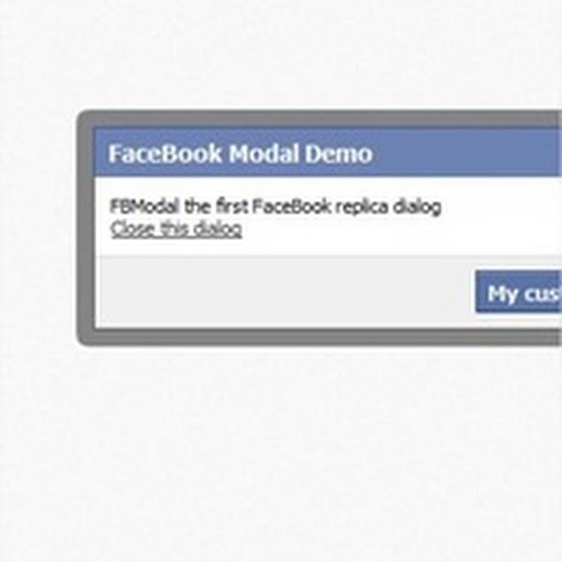 Crear un cuadro de dialogo estilo Facebook con jQuery