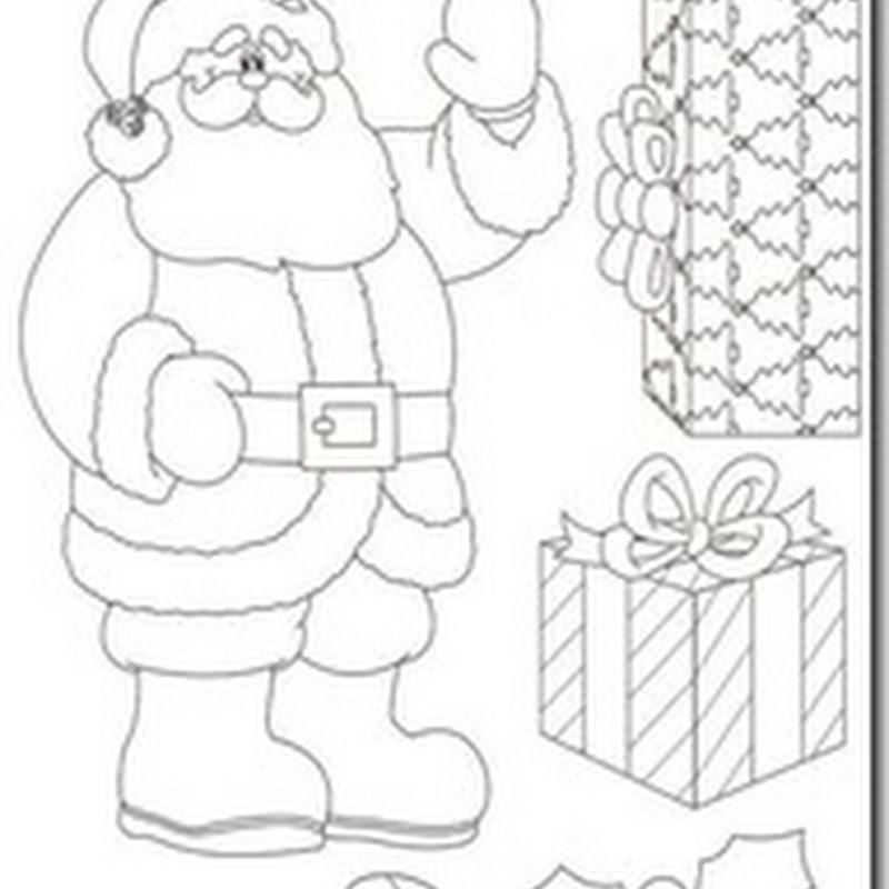 Dibujos Santa Claus para colorear