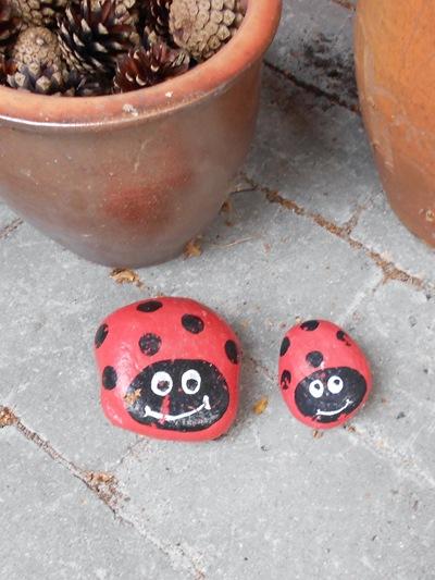 Ladybug pebbles