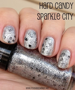 Hard Candy Sparkle City (over silver foil)