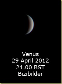 Venus 29 April 2012