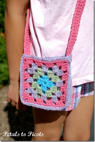 Crochet Granny Square Tote Bag Pattern : ... the bag she puts her stuff in a ziploc bag first pretty clever huh