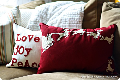 DIY pottery barn crewell pillow