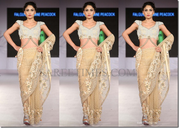 shane falguni peacock_beige_saree