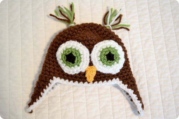 diy owl crochet hat