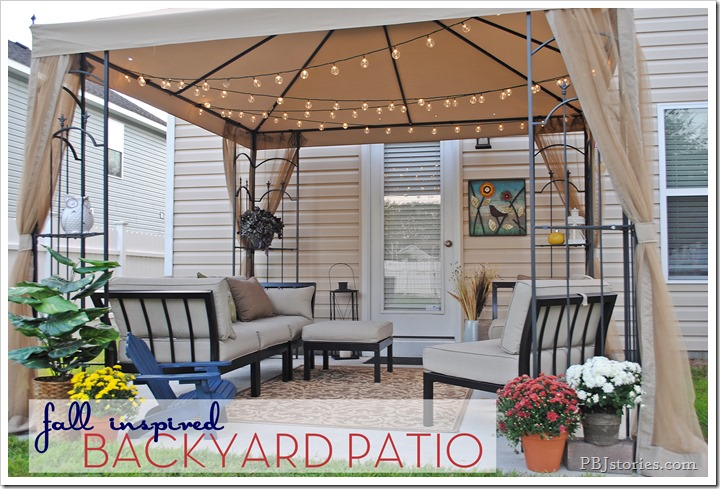 fall inspired backyard patio