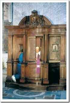 Joao Paulo no confessionario