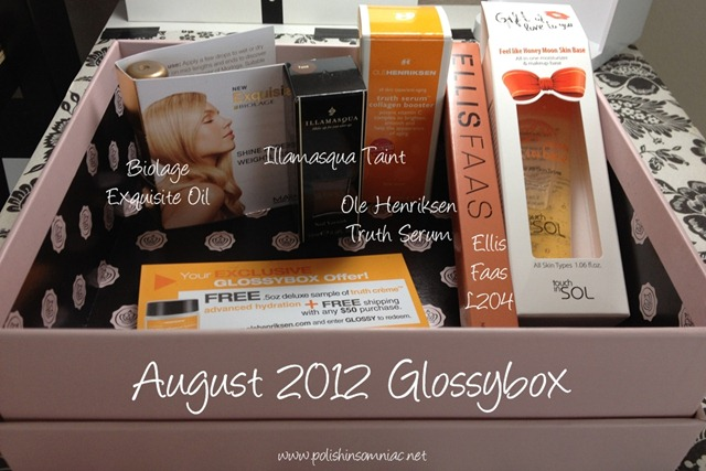 August 2012 Glossybox