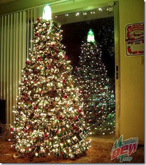 Recycled-Mountain-Dew-cans-Christmas-tree