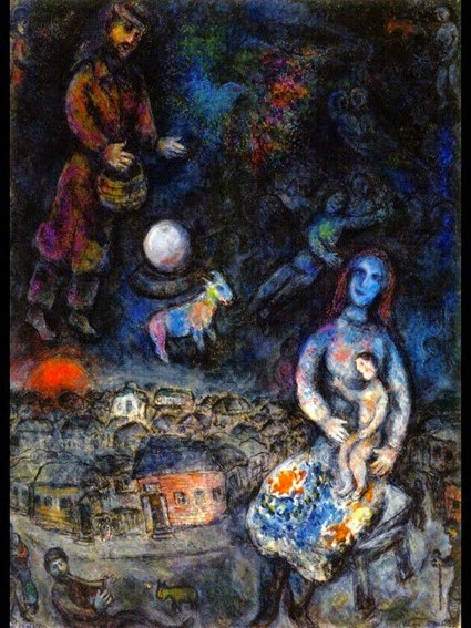 Marc Chagall (1887-1985) - Holy Family, oil on canvas, 1975-76