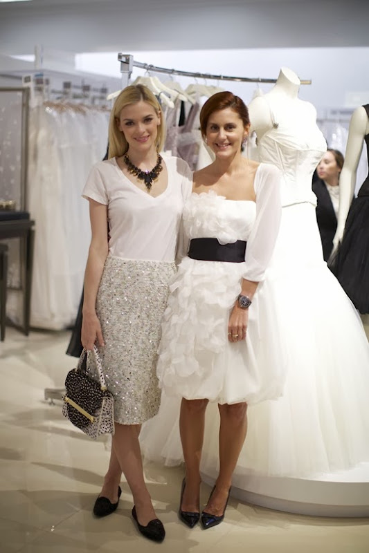 Jaime King with celebrity stylist Nikki Pennie at David%27s Bridal in West Hollywood