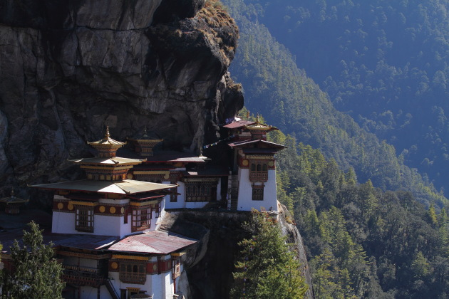 Taktsang Monastery or Tiger's Nest, near Paro in Bhutan