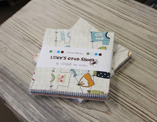 lucy's crab shack charm packs