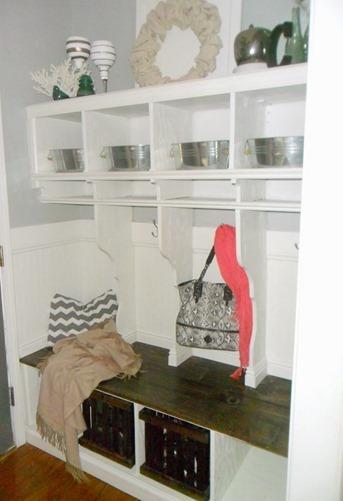DIY Mudroom and Entryway