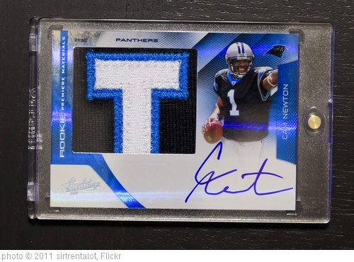 'Cam Newton RC PATCH AUTO 10/10' photo (c) 2011, sirtrentalot - license: http://creativecommons.org/licenses/by/2.0/