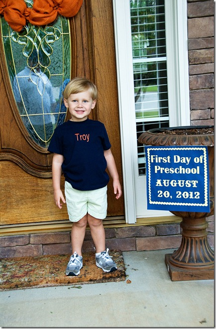 troy first day of preschool 1