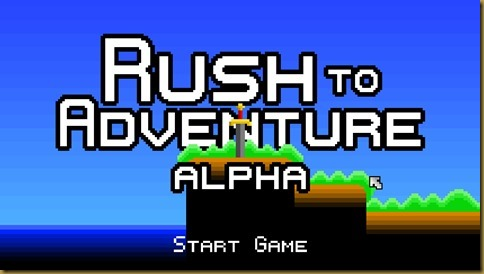 Rush to Adventureタイトル