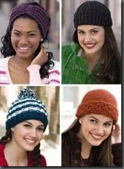 leisure arts crochet hats