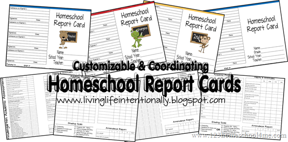 Free homeschool report cards pronofoot35fo Image collections
