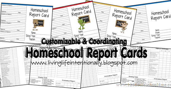 FREE Homeschool Report Cards
