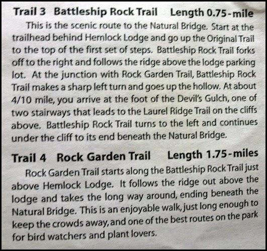 00a -Up Rock Garden Trail #4 and down Battleship Rock Trail #3