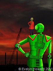Me and my robot © Evelyn Howard 2011