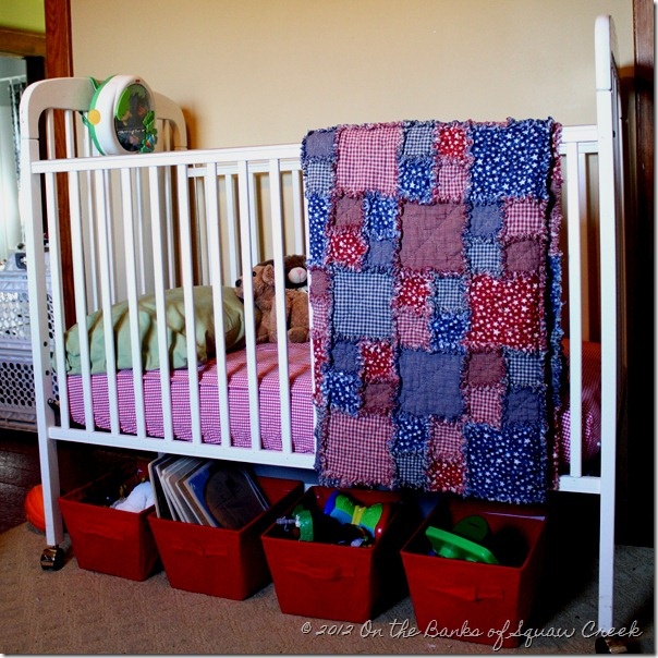 gingham crib