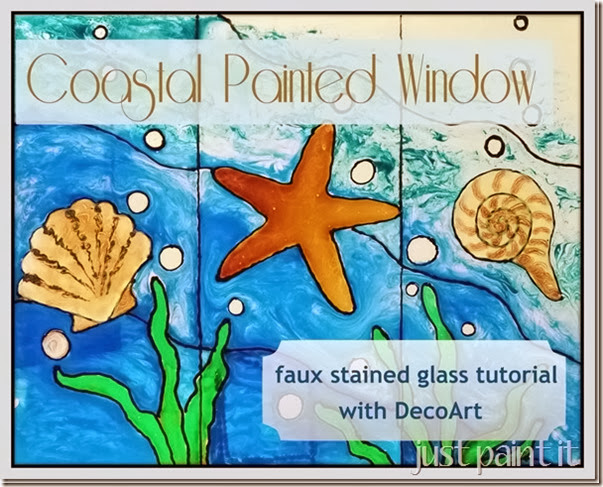 Coastal Painted Window #DecoArt_thumb