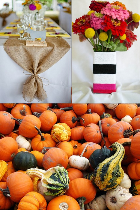 Fall table collage