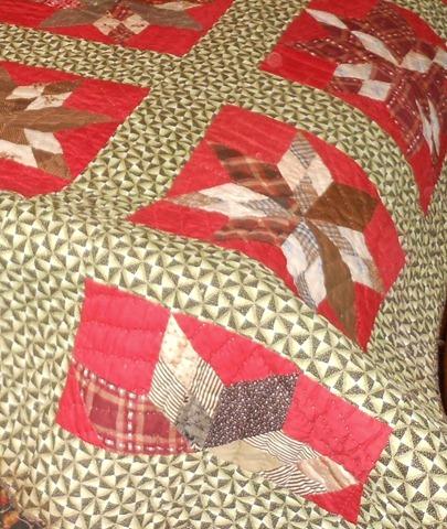 focus on green fabric