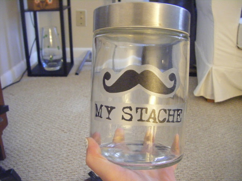 My Stache Money Jar | allonsykimberly.com
