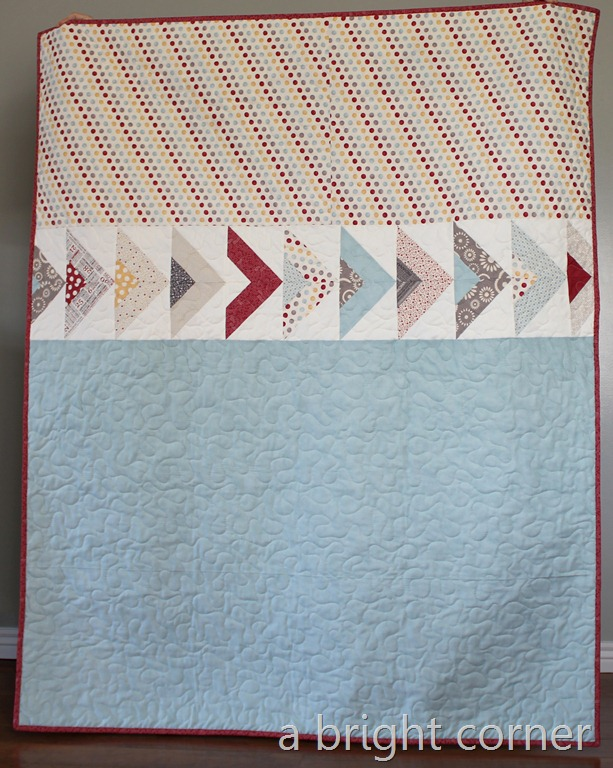 right turn only quilt backing