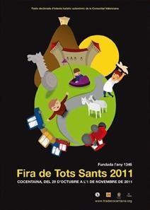 Cartell Fira Tots Sants 2011 Maria Pascual Vañó
