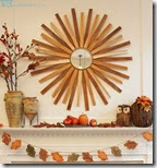 Fall mantel with Sunburst mirror 2-sm