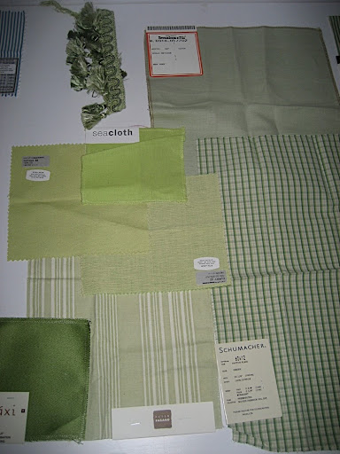 Some green swatches and trim.