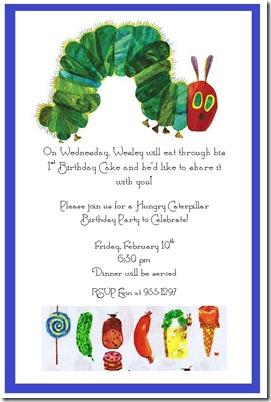 Wesley's Birthday invite