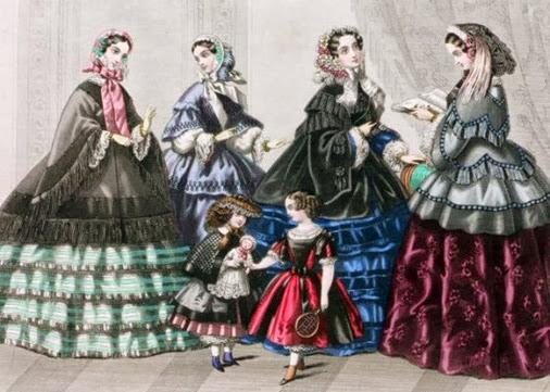 Zweites Rokoko divatkép 1860-es évek