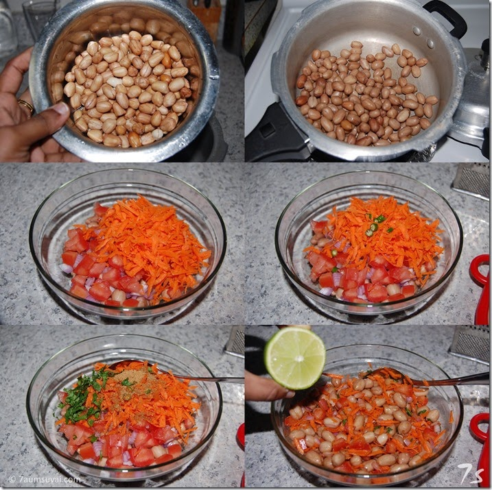 Peanut chaat process