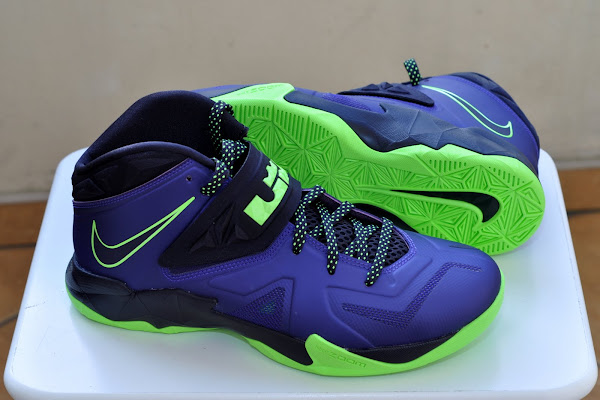 Nike Zoom Soldier VII Court PurpleFlash Lime is Now Available