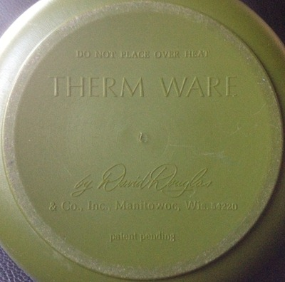 David Douglas Therm Ware carafe, avocado green