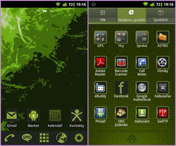 dark green theme go launcher ex