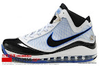 zlvii fake colorway white black blue 1 08 Fake LeBron VII