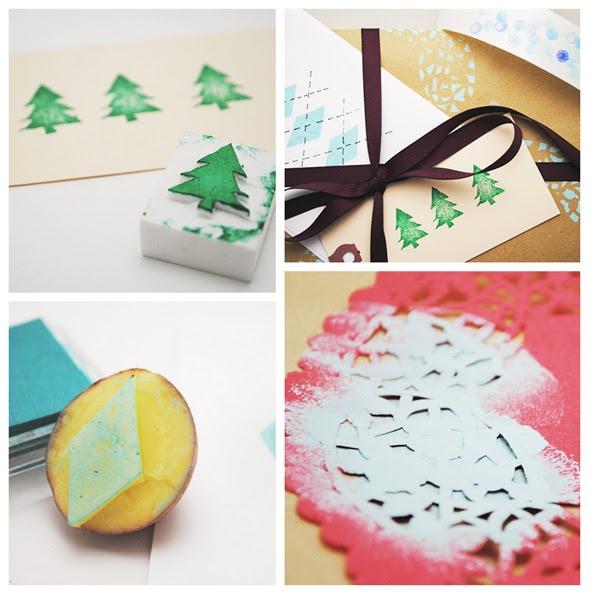 Reyna orozco meraz c mo decorar regalos con sellos hechos - Regalos hechos por ti ...