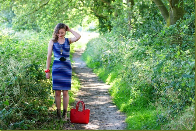 blue midi bodycon dress