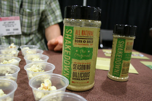 Shakedown Spice is so named because as soon as its chef-inventor gave his friends a taste, he started getting requests for the mix of curry, dill, garlic, and other savories.  Put it on popcorn and you'll understand why he decided to start charging.
